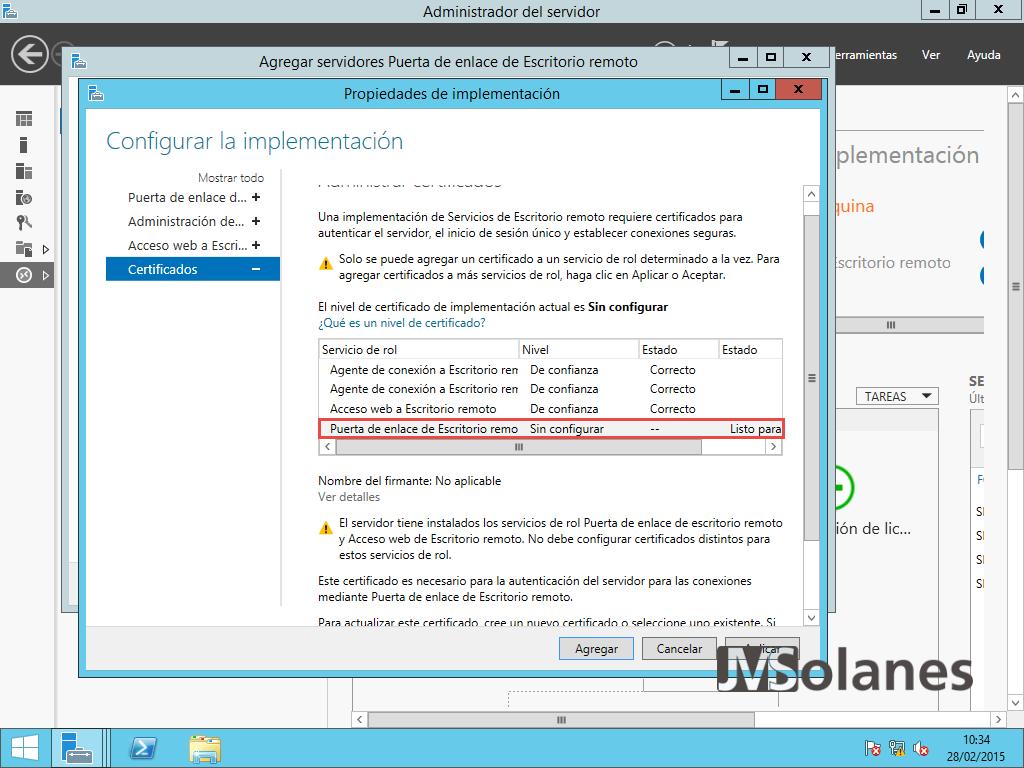 Porta enllaç Escriptori Remot - pantalla configuració 10