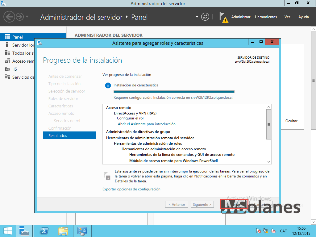 Acceso remoto por VPN de Windows Server 2012 R2 | JMSolanes